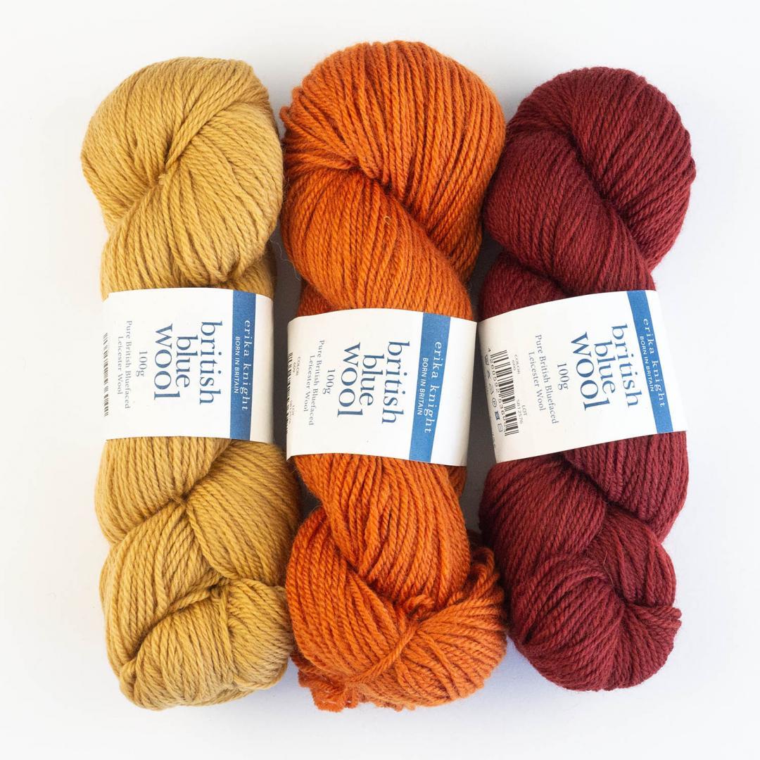 Erika Knight British Blue Wool 100 (100g)  Mrs Dalloway