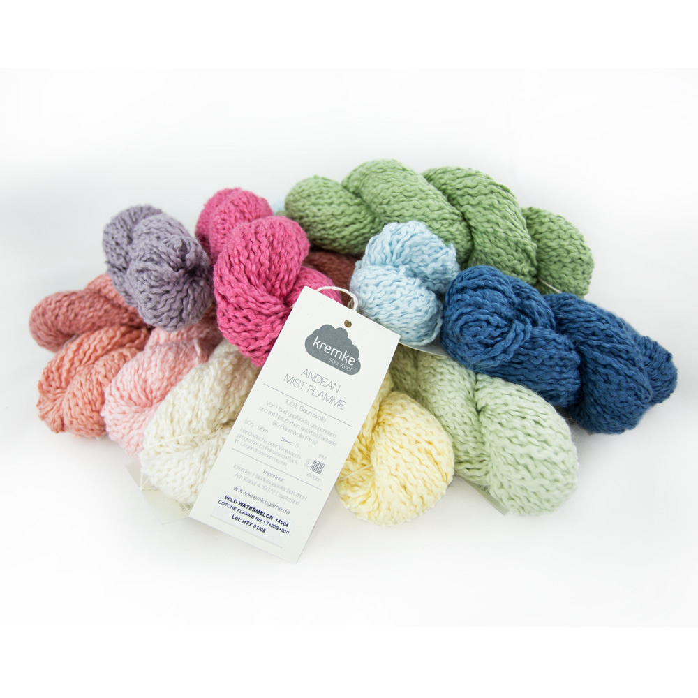 Kremke Soul Wool Andean Mist Cotton Flammé