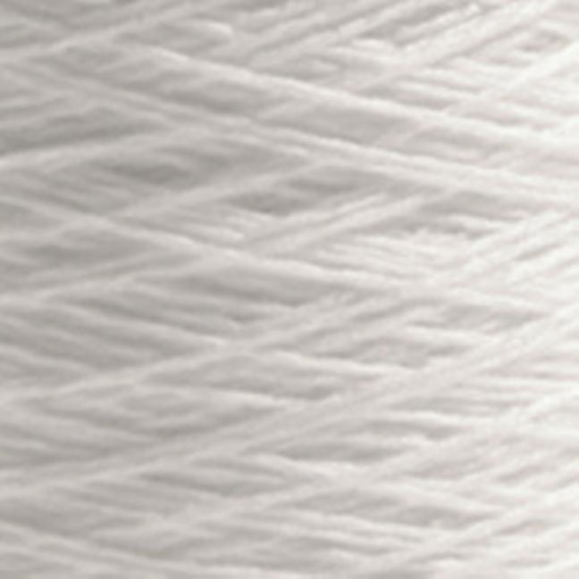 BC Garn Luxor mercerized Cotton 200g Kone  reinweiß