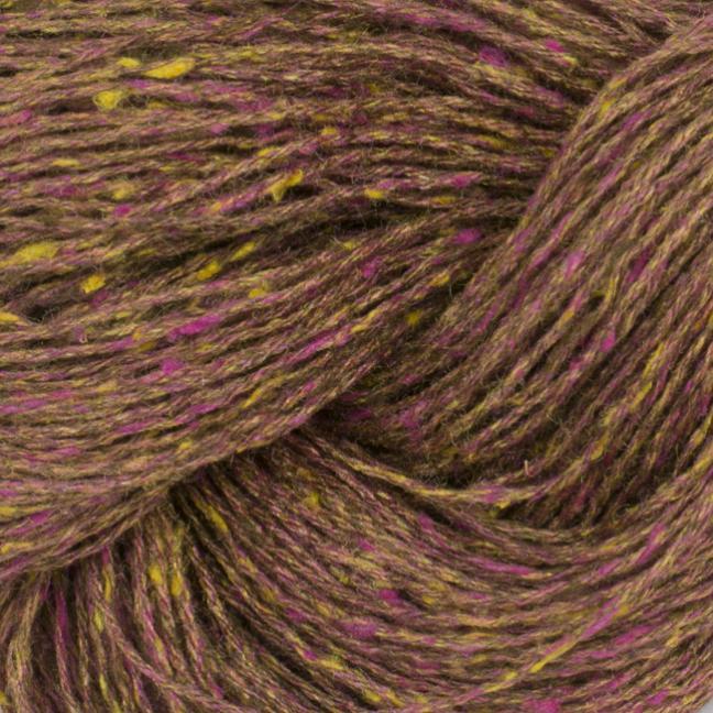 BC Garn Tussah Tweed auf 1kg-Konen brown-pink-fantasie