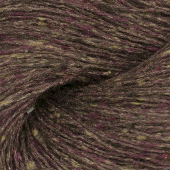BC Garn Tussah Tweed auf 1kg-Konen aubergine-mix