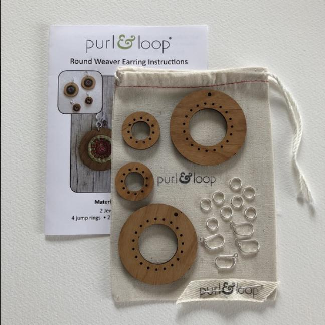 Purl & Loop Round Weaver Earring Kit 2,5cm M  M