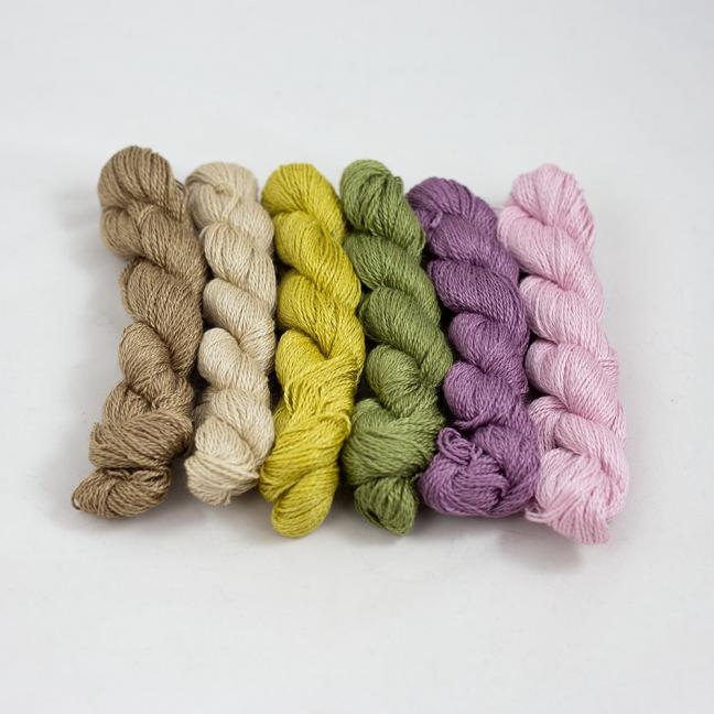 BC Garn Silkbloom Extra Fino Mini Skein Combo  Earth