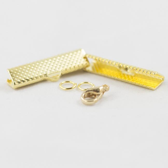 Kremke Soul Wool Bandklemmen mit Verschluss 25mm Goldfarben