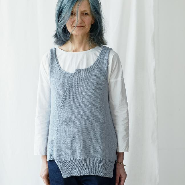 Erika Knight Einzelanleitungen/Patterns Studio Linen Bluebird Englisch Studio Linen