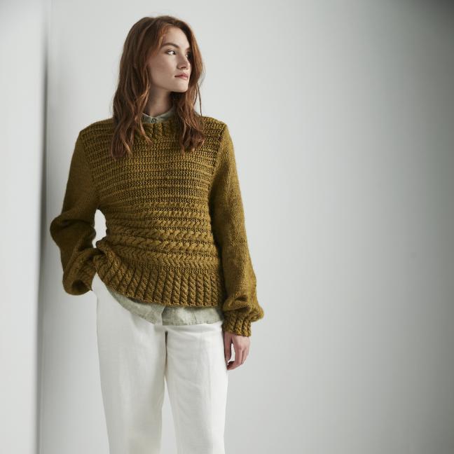 Erika Knight Einzelanleitungen/Patterns Wild Wool Dunbar Englisch