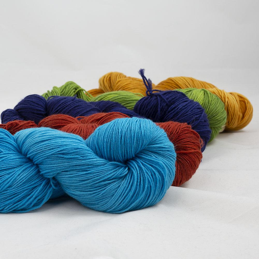 Kremke Soul Wool Lazy Lion Sock Yarn semi solid Mix  Mix-Paket