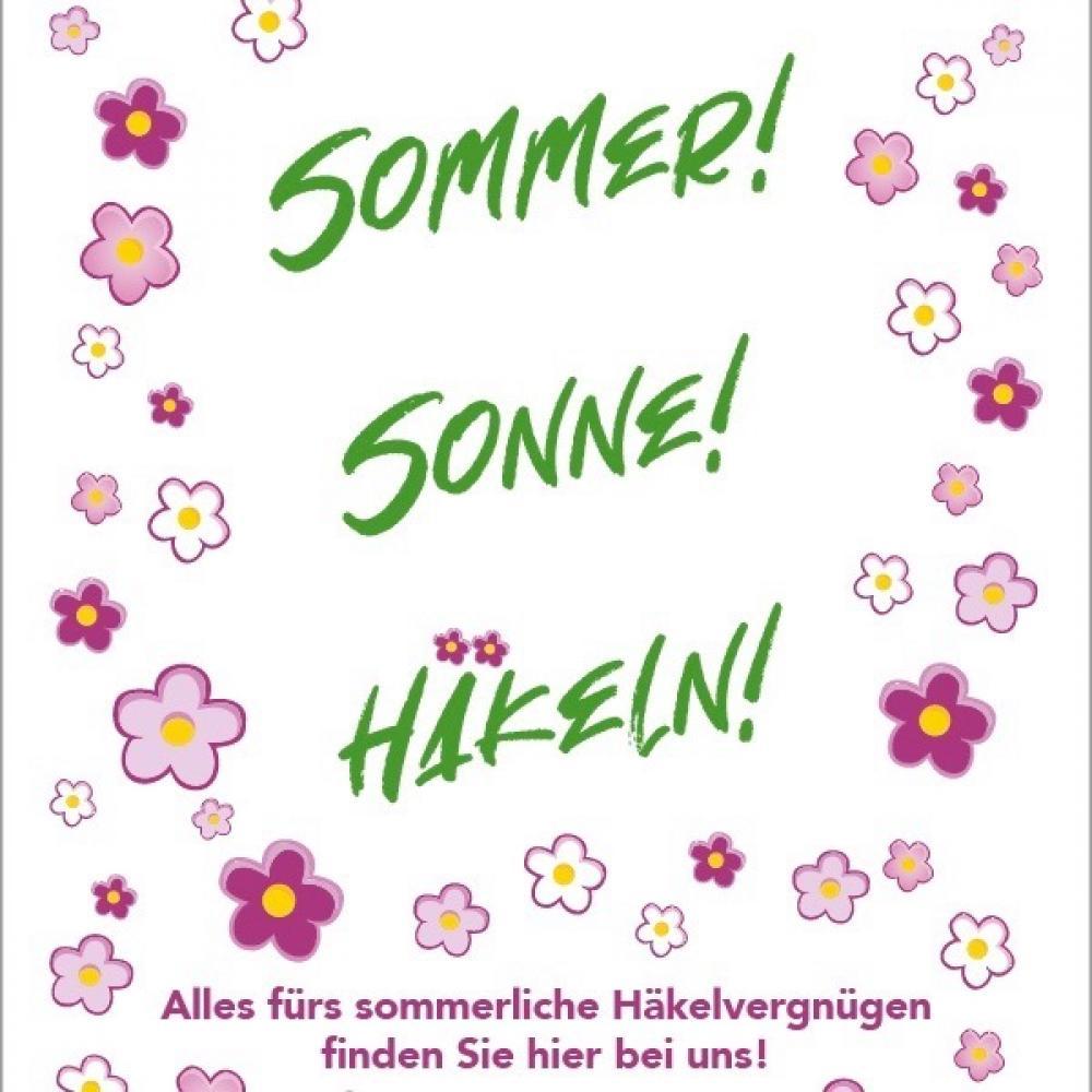 BC Garn Poster Sommer Sonne Häkeln