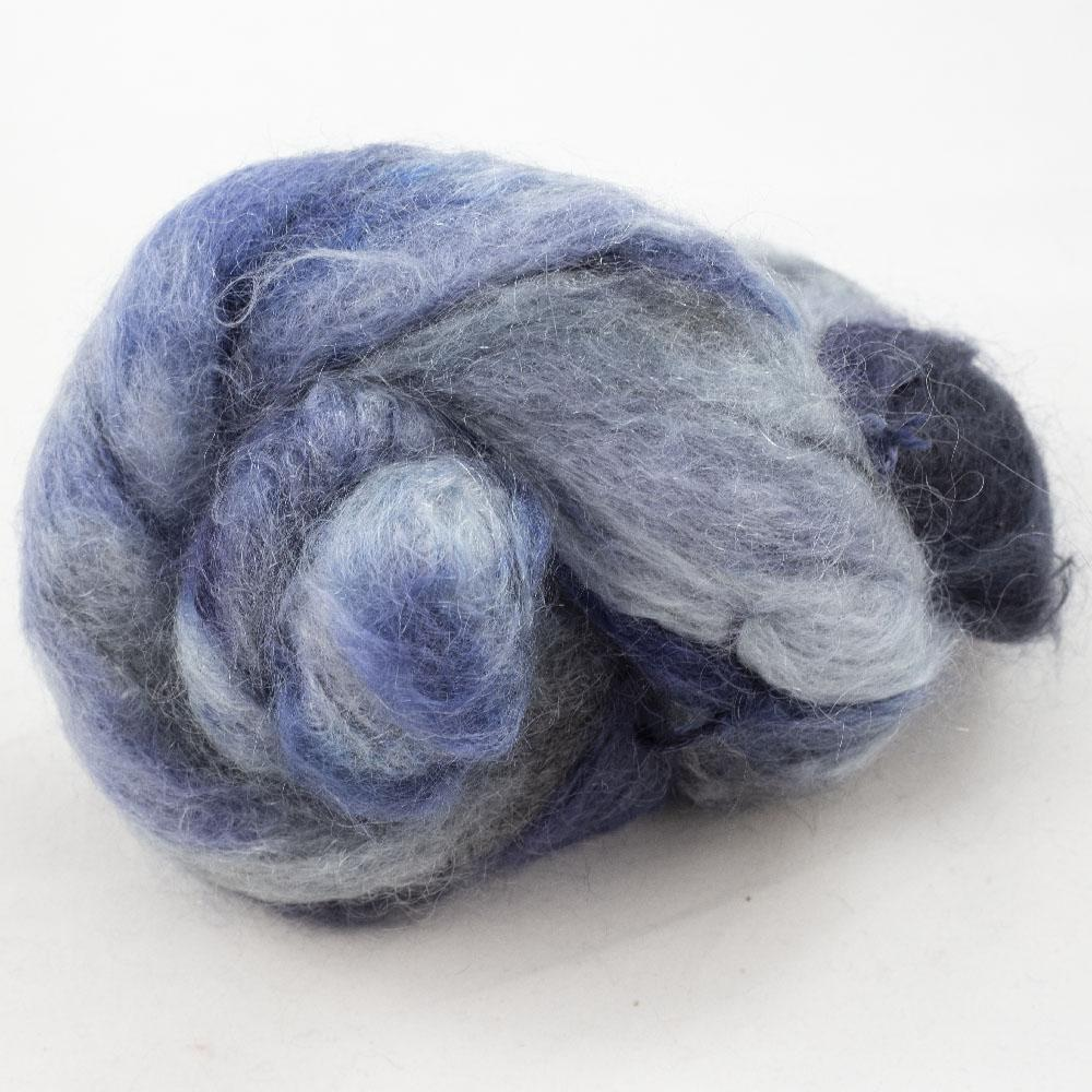 Cowgirl Blues Fluffy Mohair Farbverlauf (100g) Moody Blues