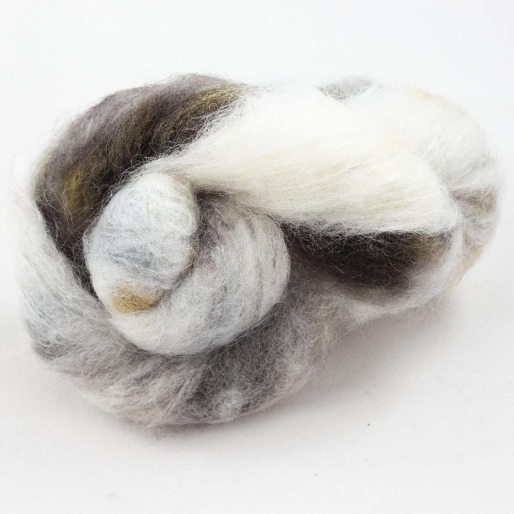 Cowgirl Blues Fluffy Mohair Farbverlauf (100g) Writing in the Sand