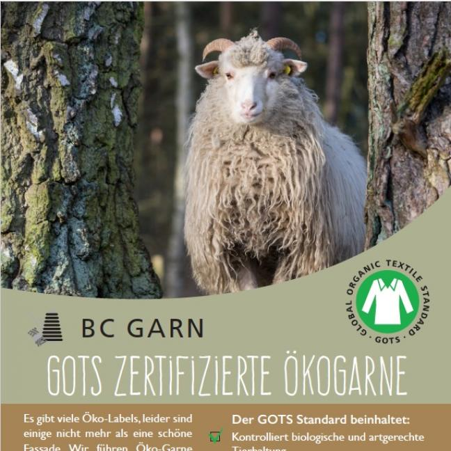 BC Garn GOTS Aufsteller BC Garn Deutsch