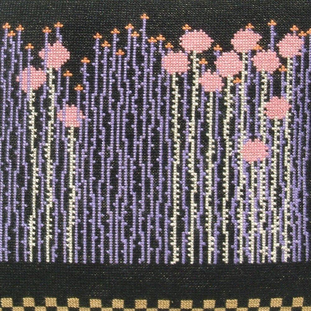 Fru Zippe Englisches Gras Kissen 74 P5 und P29 Schwarzer Hintergrund