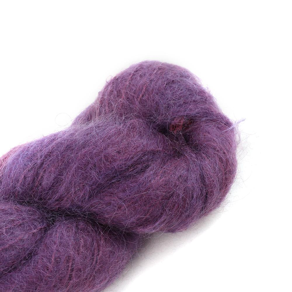 Cowgirl Blues Fluffy Mohair solids (100g) 35-Aubergine