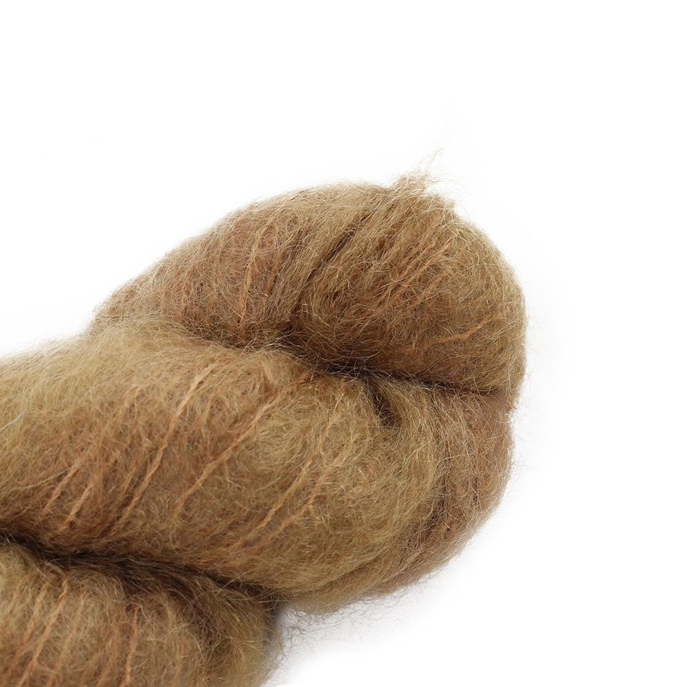 Cowgirl Blues Fluffy Mohair solids (100g) 39-Camel