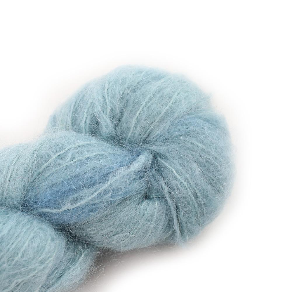 Cowgirl Blues Fluffy Mohair solids (100g) 37-Celadon