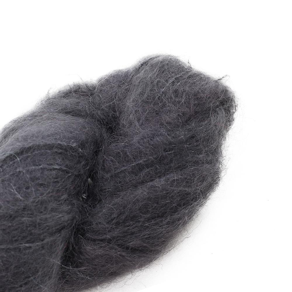 Cowgirl Blues Fluffy Mohair solids (100g) 02-Charcoal
