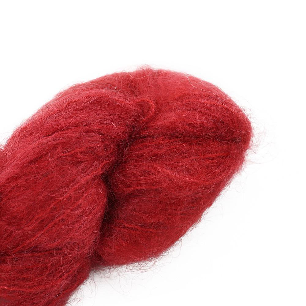 Cowgirl Blues Fluffy Mohair solids (100g) 40-Chili Pepper