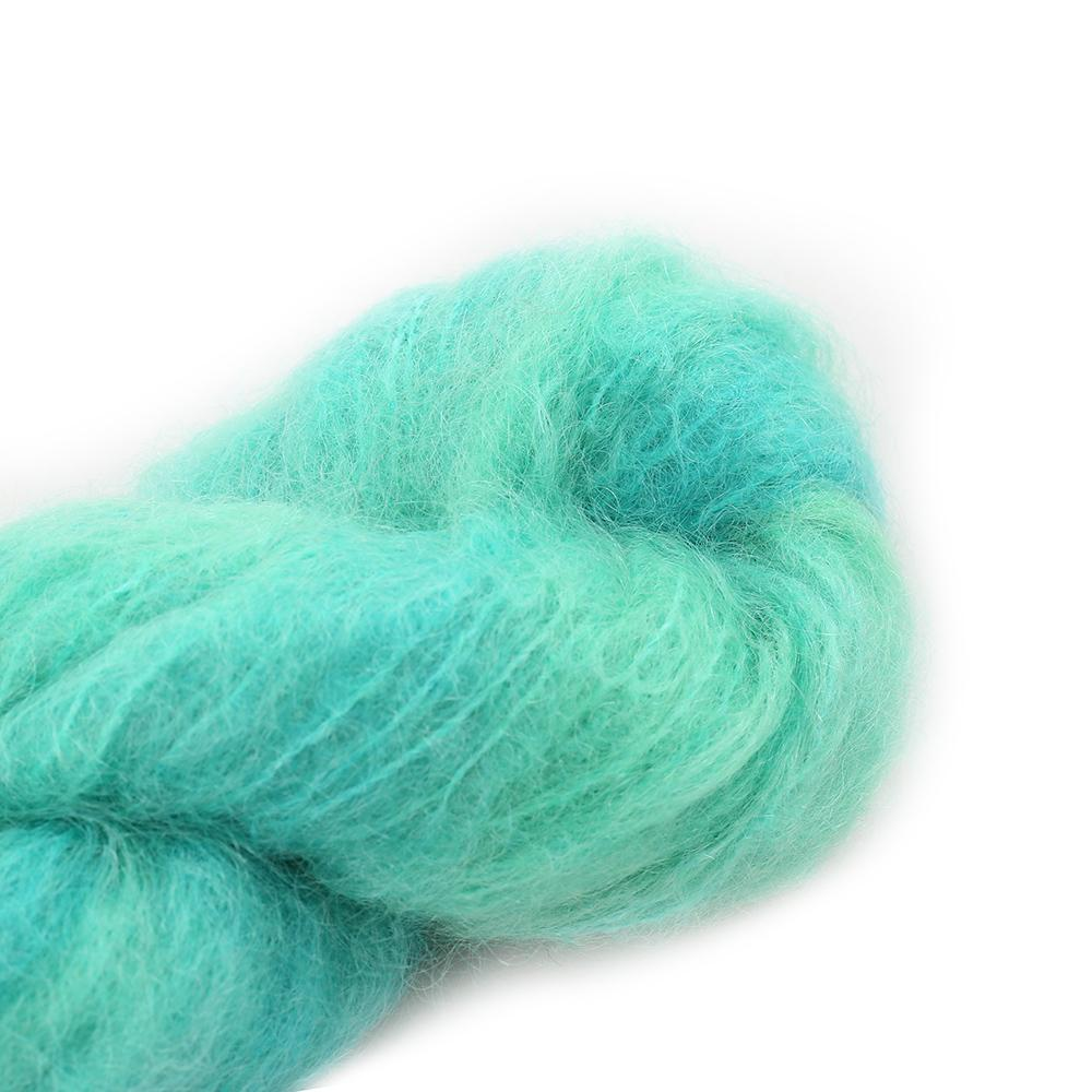Cowgirl Blues Fluffy Mohair solids (100g) 15-Emerald