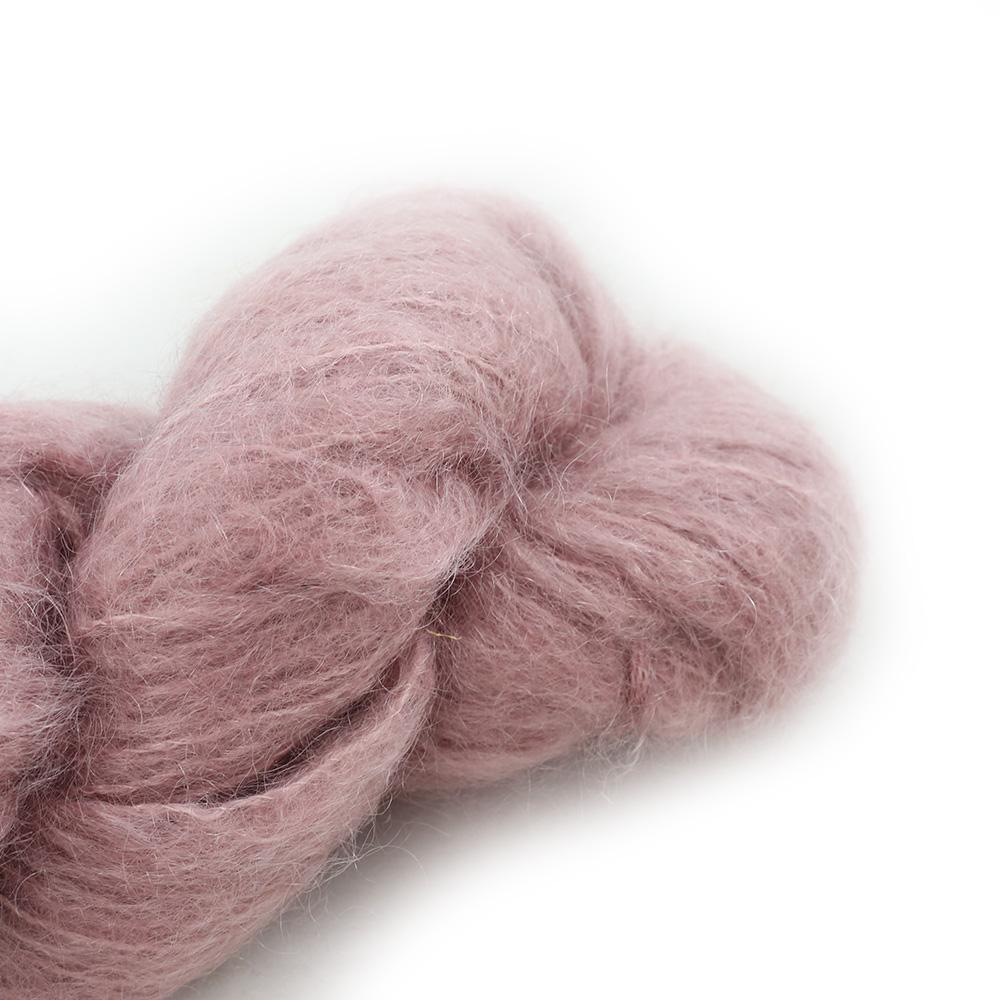 Cowgirl Blues Fluffy Mohair solids (100g) 25-Faded Rose