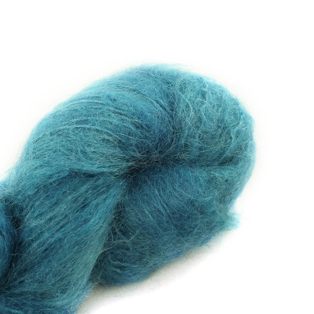 Cowgirl Blues Fluffy Mohair solids (100g) 17-Guinea Fowl