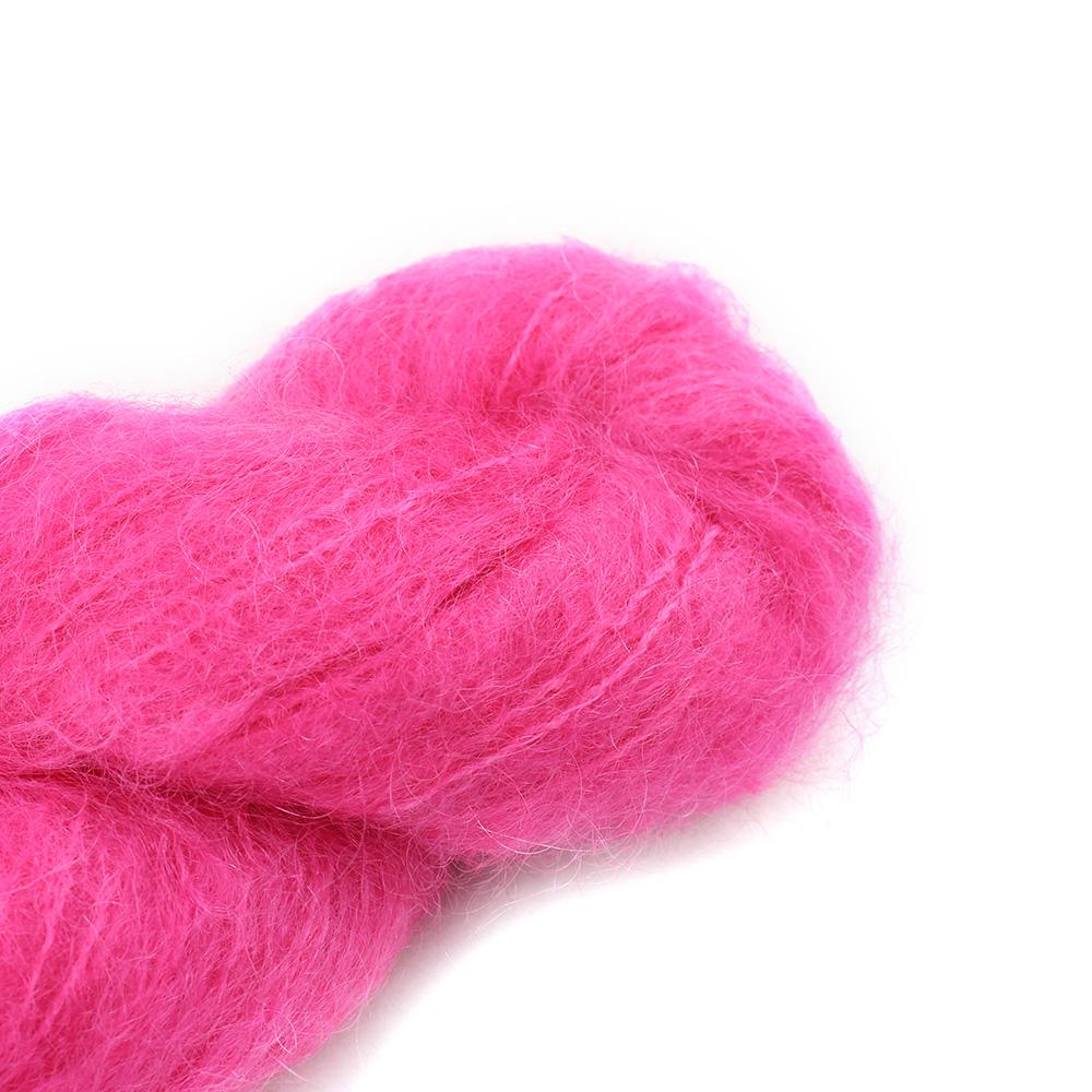 Cowgirl Blues Fluffy Mohair solids (100g) 32-Hot Pink