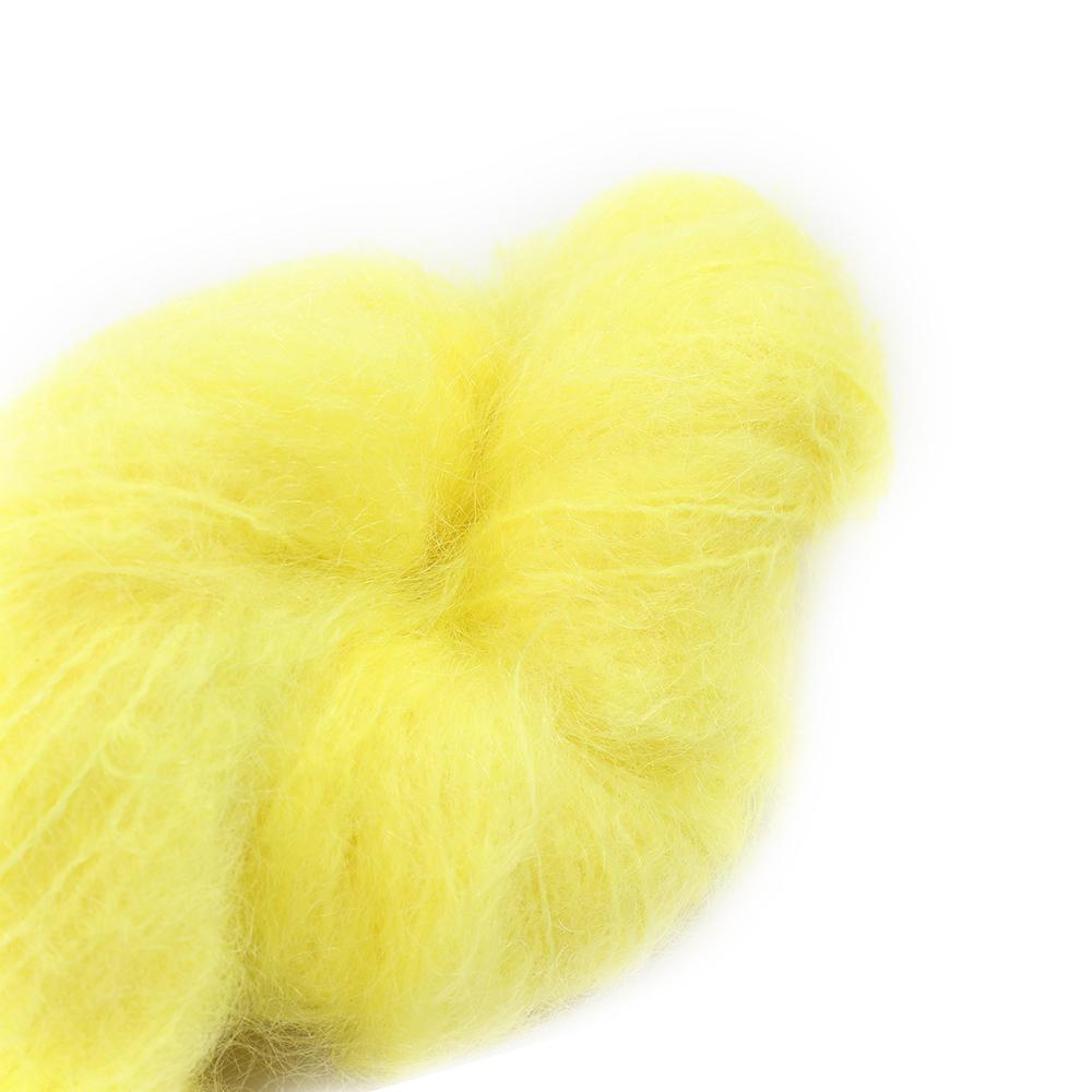 Cowgirl Blues Fluffy Mohair solids (100g) 43-Lemon