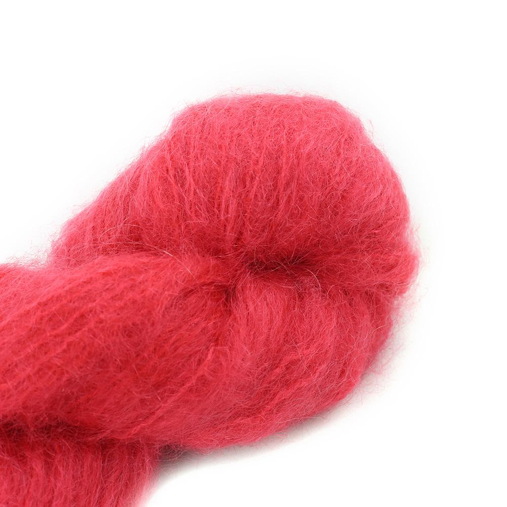Cowgirl Blues Fluffy Mohair solids (100g) 23-Lipstick