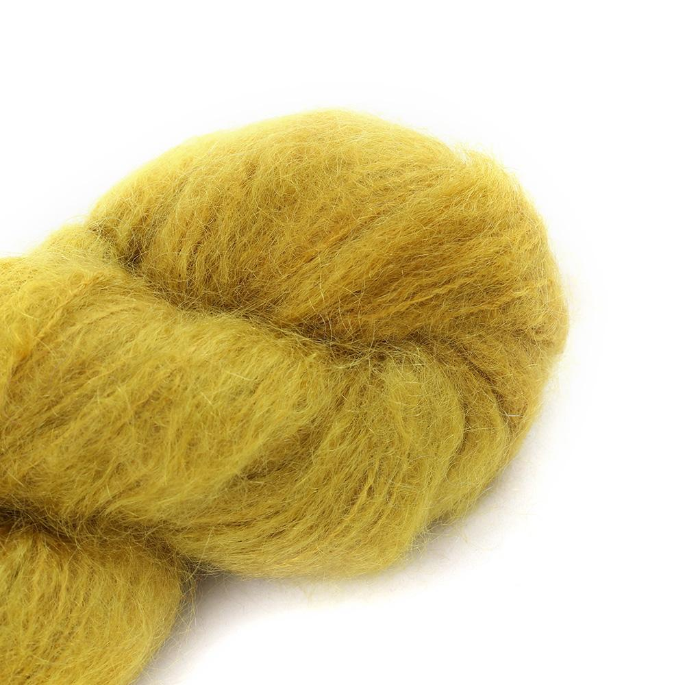 Cowgirl Blues Fluffy Mohair solids (100g) 09-Mustard
