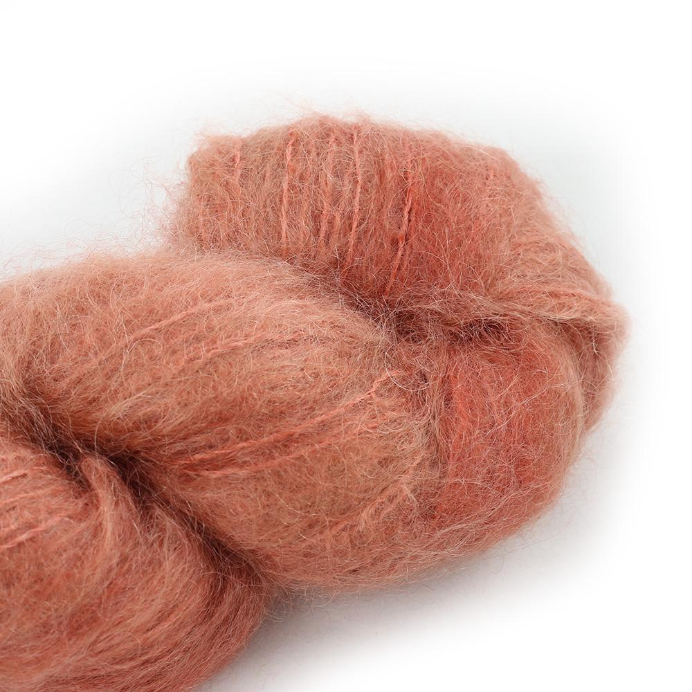 Cowgirl Blues Fluffy Mohair solids (100g) 31-Terracotta