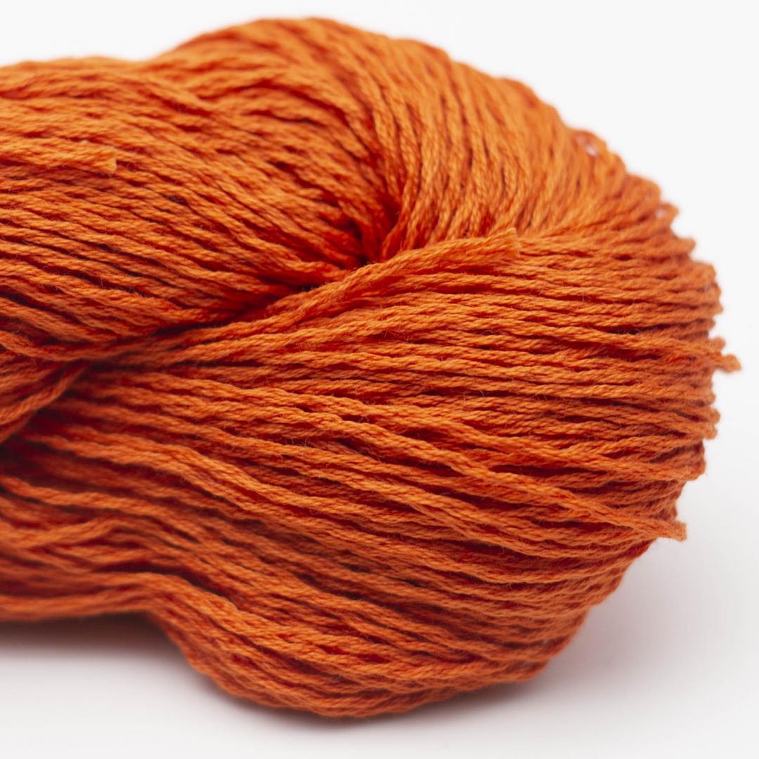 BC Garn Luxor mercerized Cotton tieforange