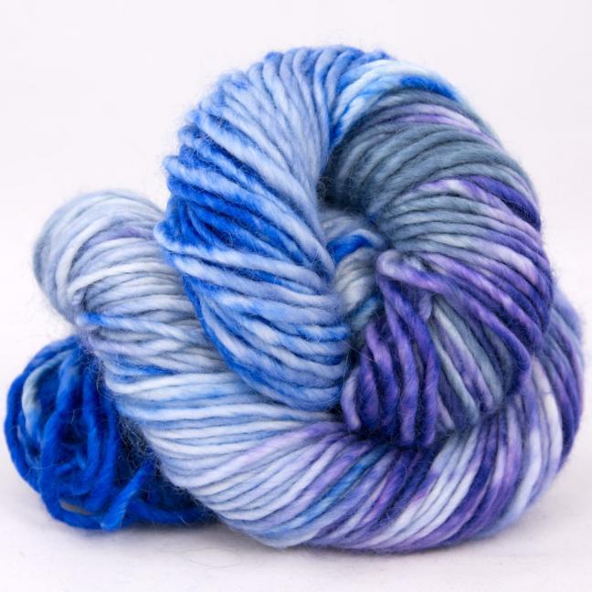 Cowgirl Blues Aran Single Farbverlauf 100g Auslauffarben CobaltAirforceBlueberryIcedberry