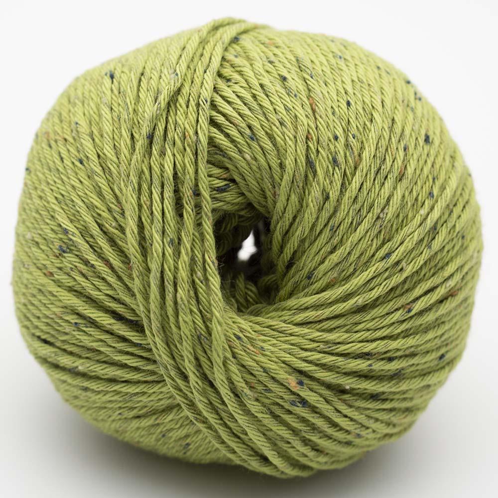 Erika Knight Gossypium Cotton TWEED Pappelgrün