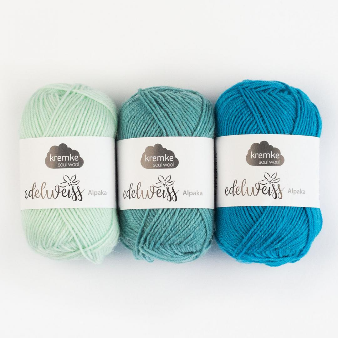 Kremke Soul Wool Edelweiss Alpaka 4-fach 25g  Naturweiß