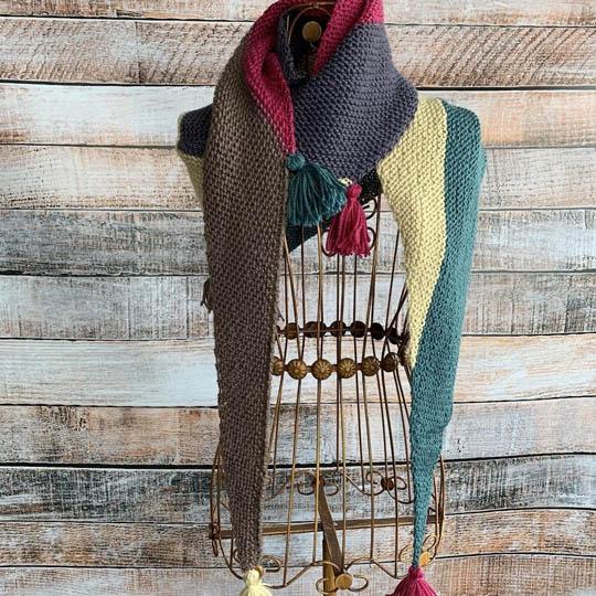 Erika Knight Knit Kit Color Blocking Shawl MYSORE ENG