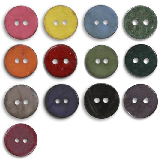Jim Knopf Cocosknopf flach gefärbt 40mm