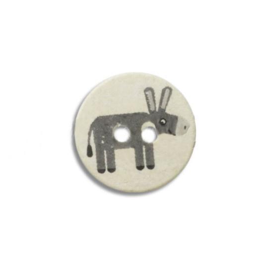 Jim Knopf Kunststoffknopf Eselchen oder Maus 16mm