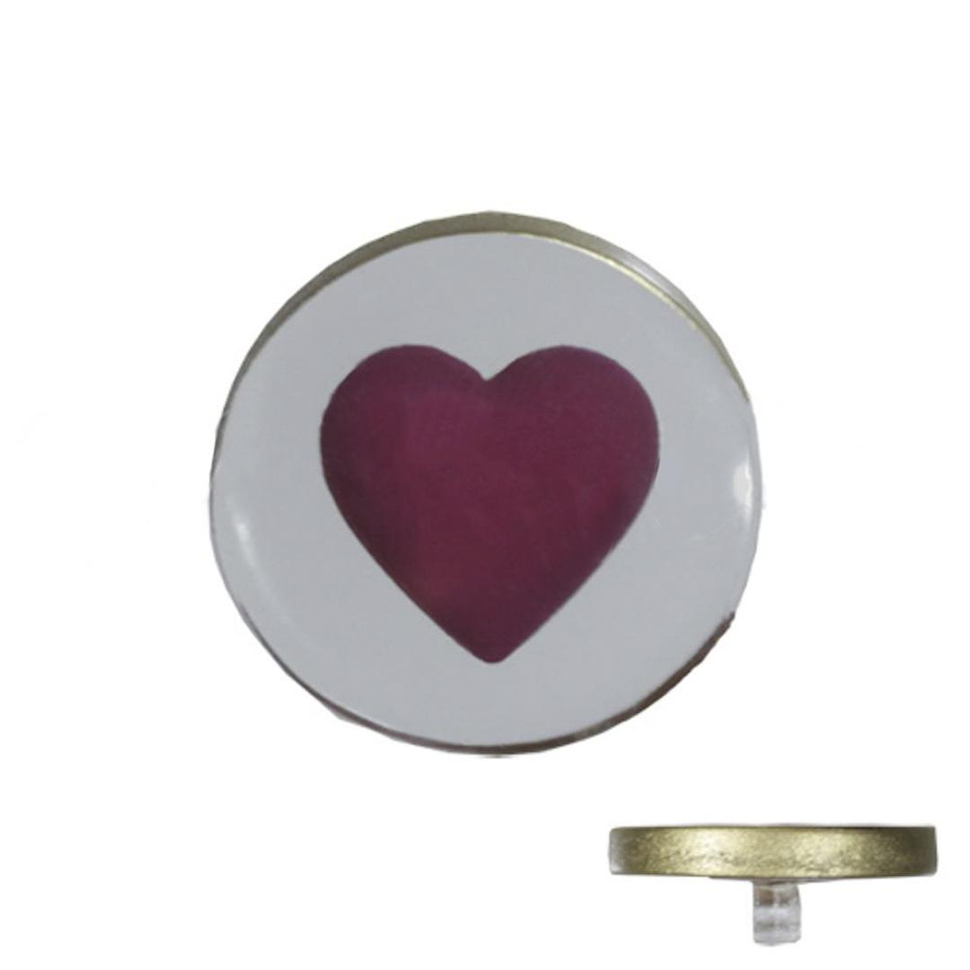 Jim Knopf Resin Kunstharz Ösen-Knopf Herz 18mm oder 23mm