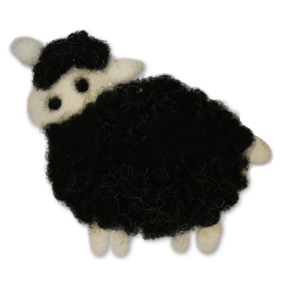 Jim Knopf Gefilztes Schaf zum Aufnähen ca 70mm