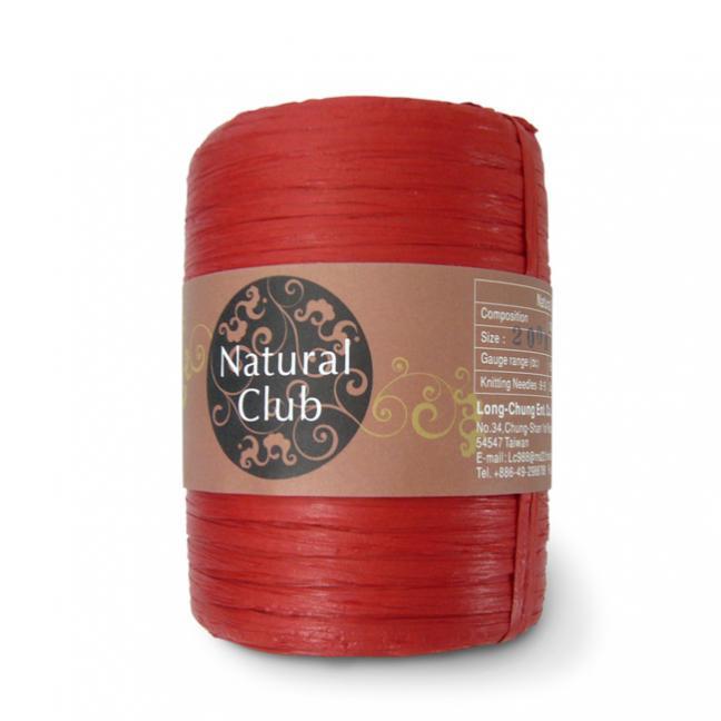 Kremke Naturbast aus Papier/Holzfaser rot