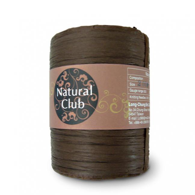 Kremke Naturbast aus Papier/Holzfaser dunkelbraun