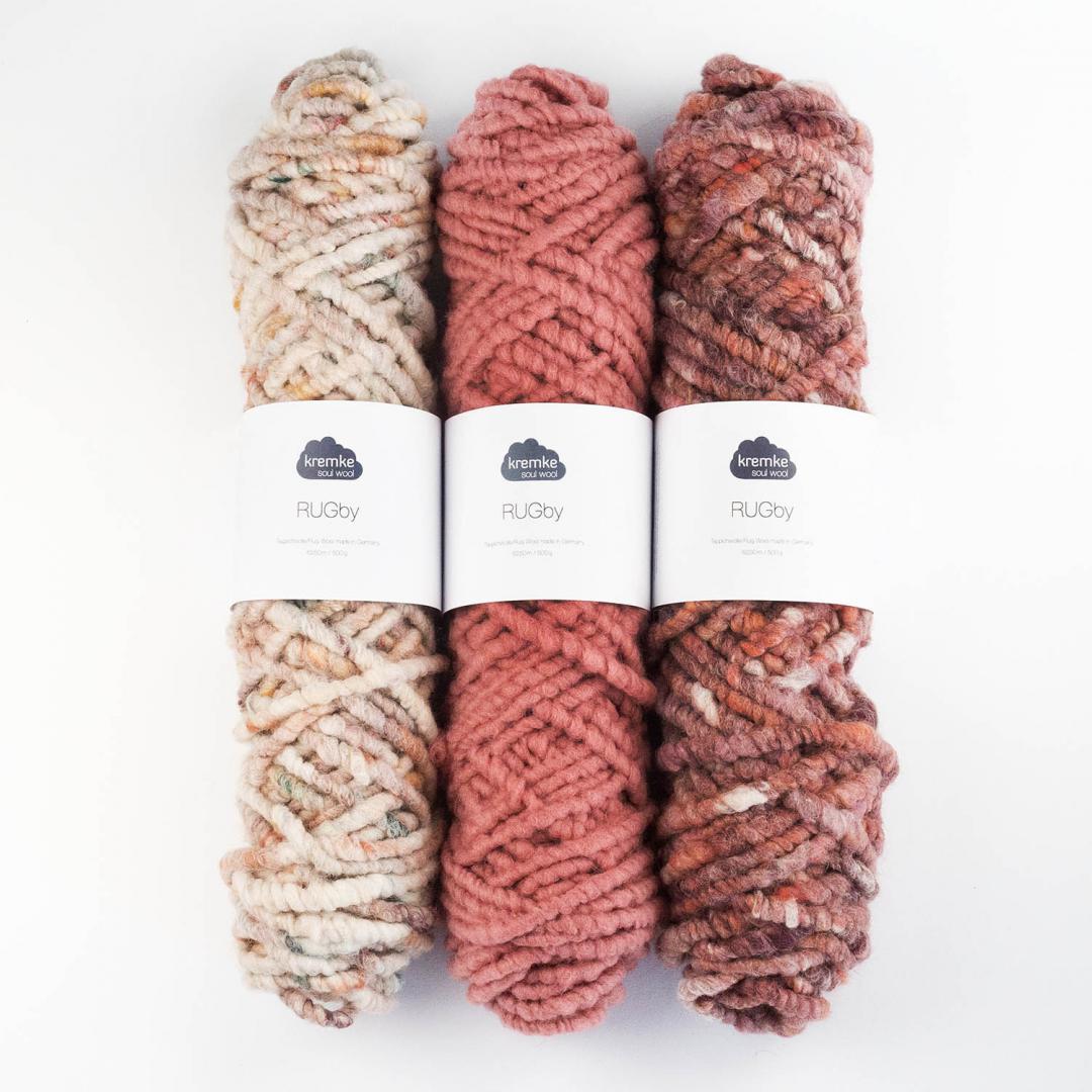 Kremke Soul Wool RUGby Teppichwolle gefärbt 500g