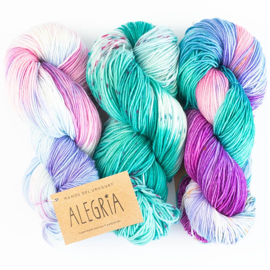 Manos del Uruguay Alegria handgefärbt 100g  Macachines