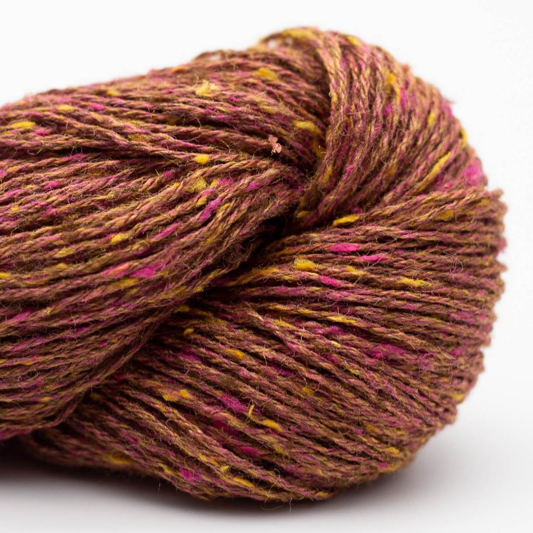 BC Garn Tussah Tweed brown-pink-fantasie