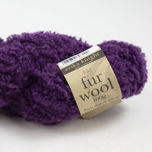 Erika Knight Fur Wool (100g) Mulberry
