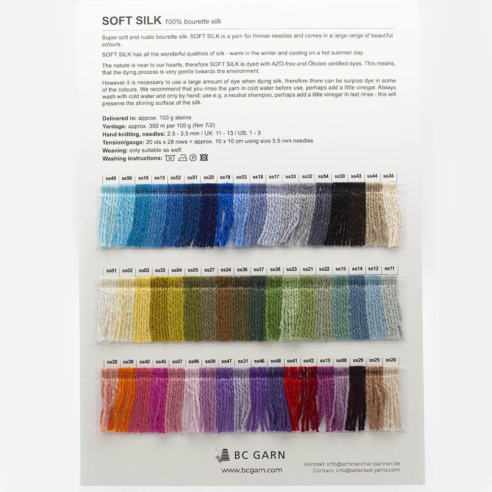 BC Garn Shade Cards BC Garn Soft Silk
