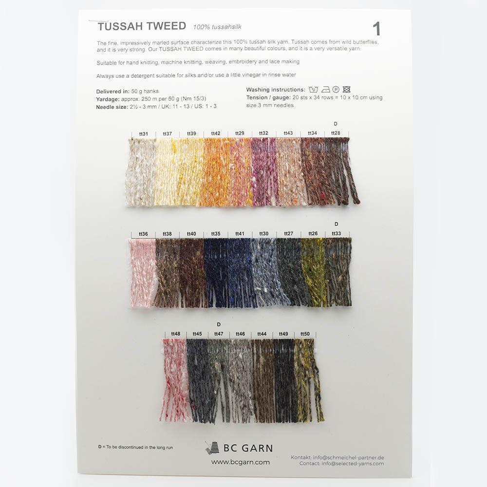 BC Garn Shade Cards BC Garn Tussah Tweed