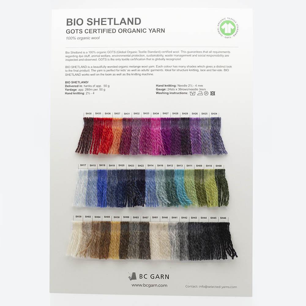 BC Garn Shade Cards BC Garn Bio Shetland
