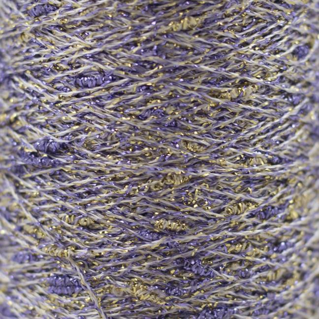 Karen Noe Design Stardust Lurexgarn lilla-gold