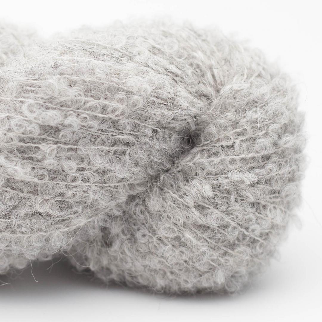 Kremke Alpaka Boucle Silbergrau