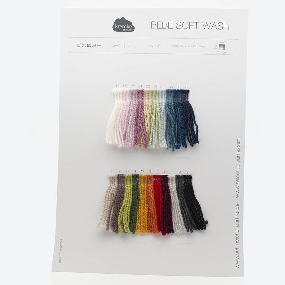 Kremke Farbkarten von Kremke Soul Wool Bebe Soft Wash